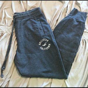 💙Hollister💙 Navy Fleece Joggers Sweatpants 💙